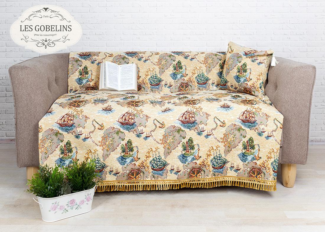 Детские покрывала, подушки, одеяла Les Gobelins Детская Накидка на диван Bateaux (160х160 см)