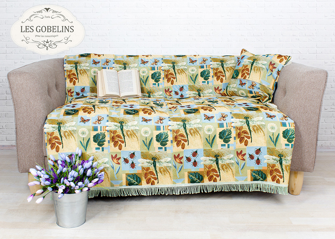 Детские покрывала, подушки, одеяла Les Gobelins Детская Накидка на диван libellule (160х160 см)