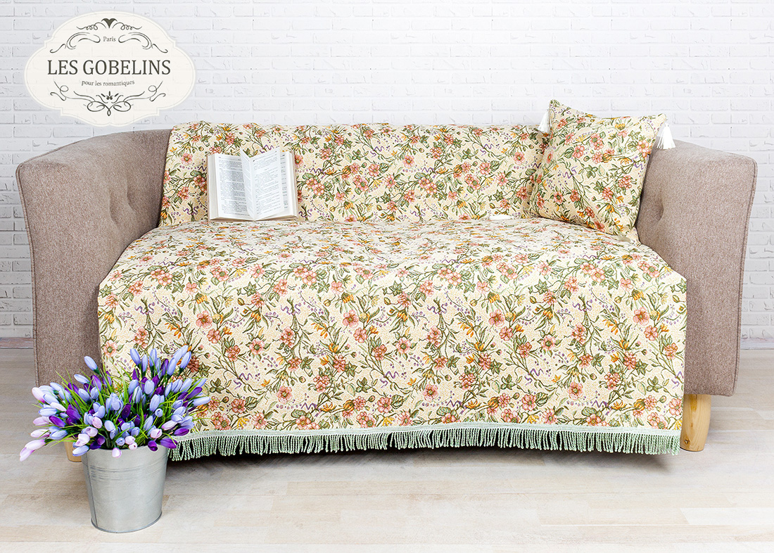 где купить Покрывало Les Gobelins Накидка на диван Humeur de printemps (160х210 см) по лучшей цене