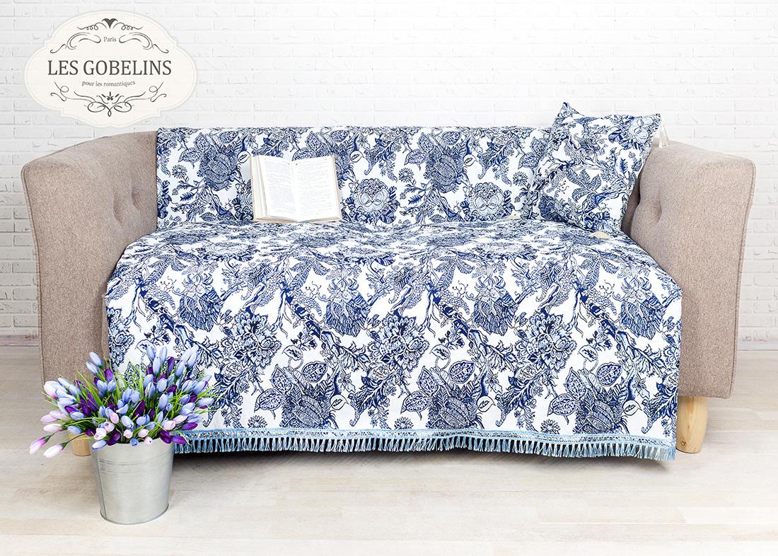 где купить Покрывало Les Gobelins Накидка на диван Grandes fleurs (160х160 см) по лучшей цене