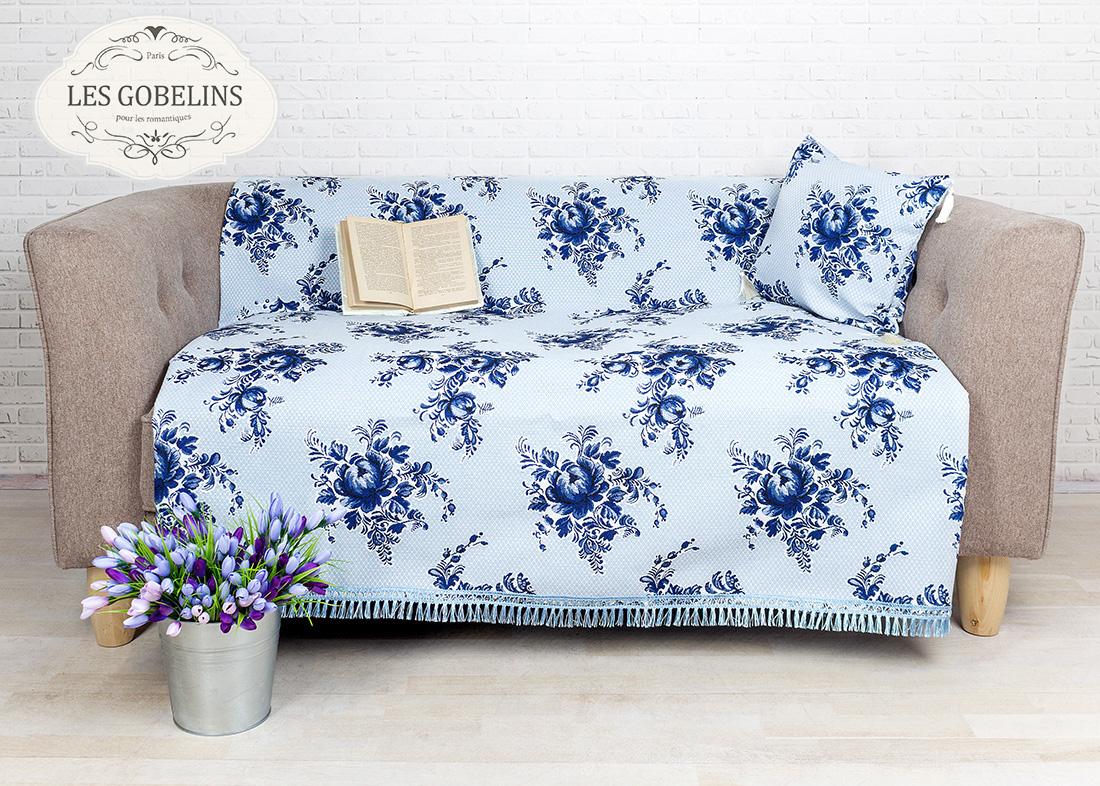 где купить  Покрывало Les Gobelins Накидка на диван Gzhel (140х200 см)  по лучшей цене