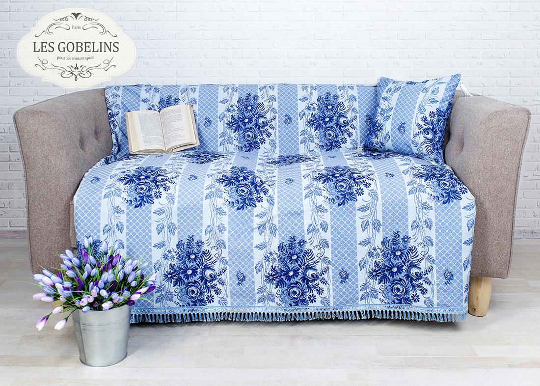 где купить Покрывало Les Gobelins Накидка на диван Gzhel (130х200 см) по лучшей цене