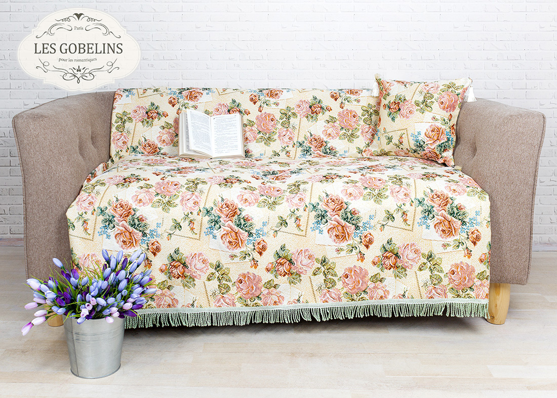 Покрывало Les Gobelins Накидка на диван Rose delicate (150х160 см)