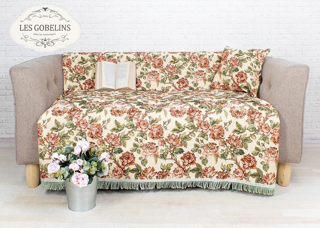 где купить Покрывало Les Gobelins Накидка на диван Rose vintage (160х160 см) по лучшей цене