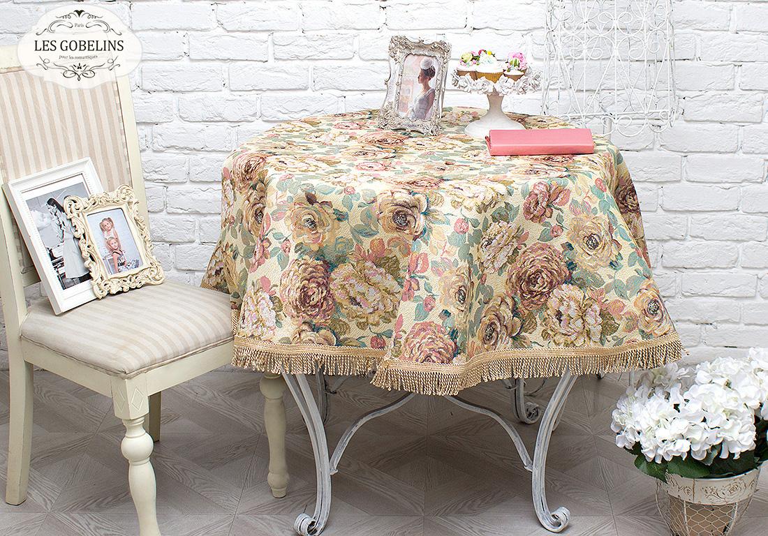 все цены на  Скатерти и салфетки Les Gobelins Скатерть Fleurs Hollandais (круглая 160 см)  в интернете