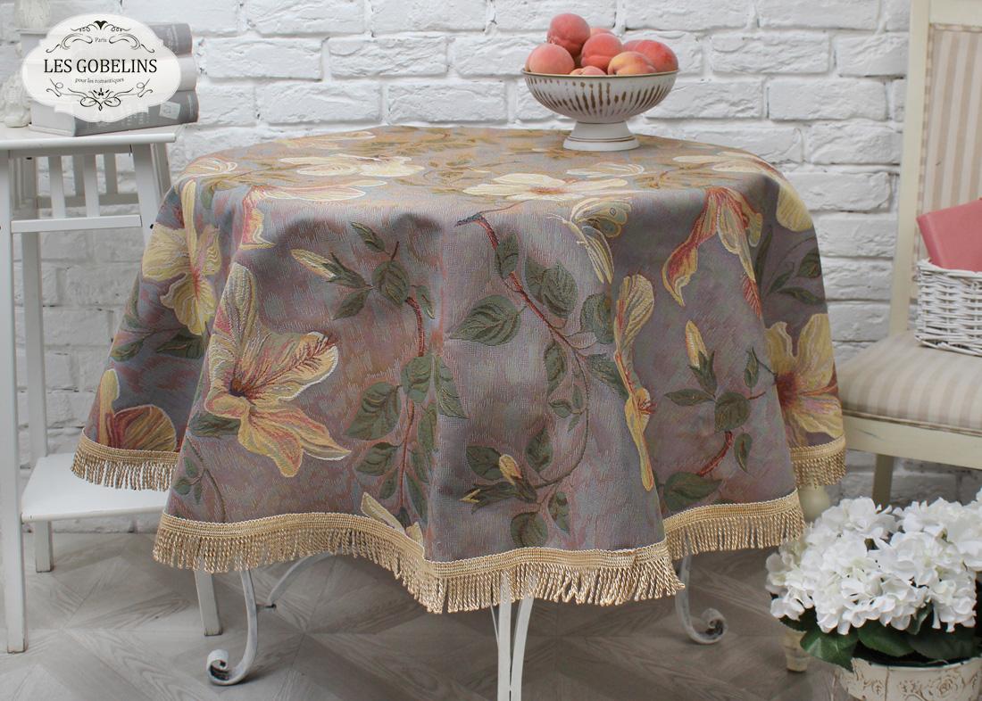 Скатерть Hibiscus (круглая 90 см) Les Gobelins