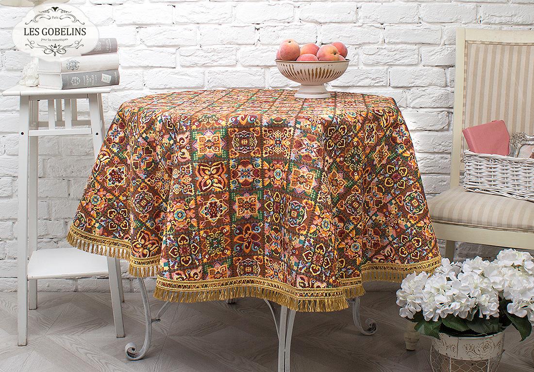 Скатерти и салфетки Les Gobelins Скатерть Mosaique De Fleurs (круглая 130 см) mosaique платок