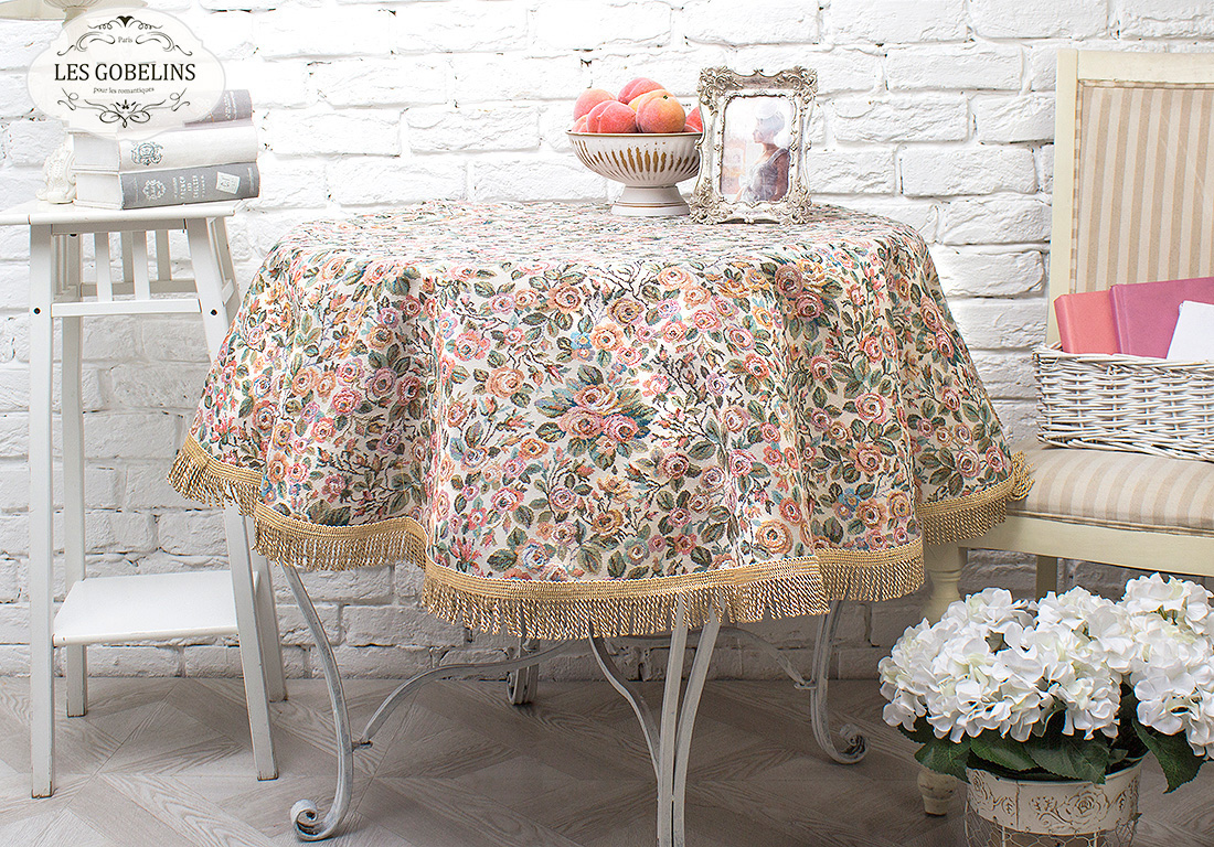 Скатерти и салфетки Les Gobelins Скатерть Saupoudrer De Roses (круглая 140 см)