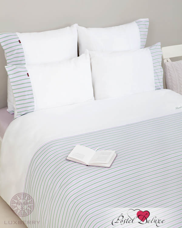 Luxberry Пододеяльник Cate Цвет: Белый-Зеленый-Лавандовый-Голубой (200х220 см)