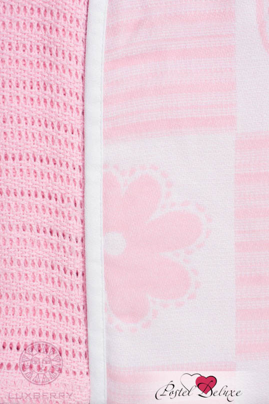 Детские покрывала, подушки, одеяла Luxberry Детский плед Set Lux 2287 Цвет: Розовый-Белый (75х100 см - 2 шт)
