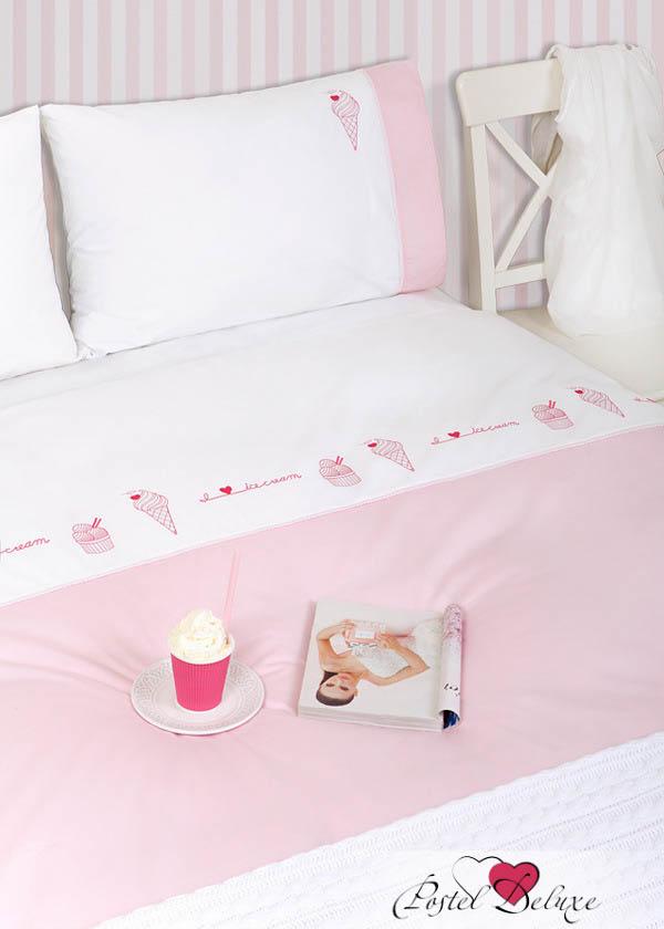 Фотография Luxberry КПБ Ice Cream Цвет: Белый-Розовый (1,5 спал.)