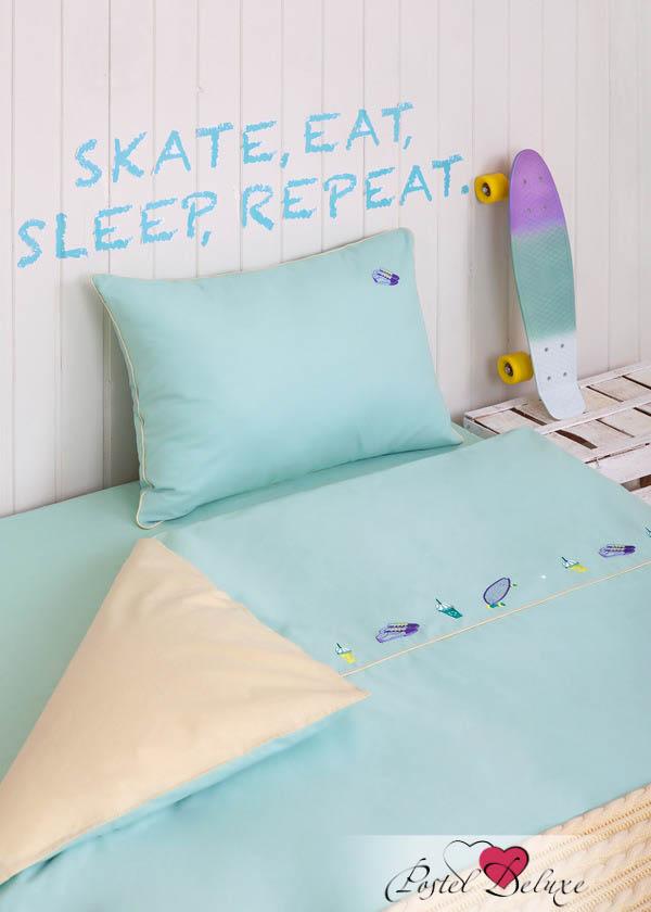 Luxberry КПБ Skateboys Цвет: Мятный-Банановый (1,5 спал.)