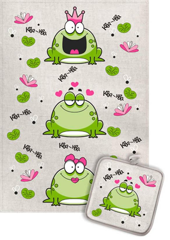 Кухонный набор Гранд-Стиль Гранд-Стиль Кухонное полотенце Лягушки царевны gst190824