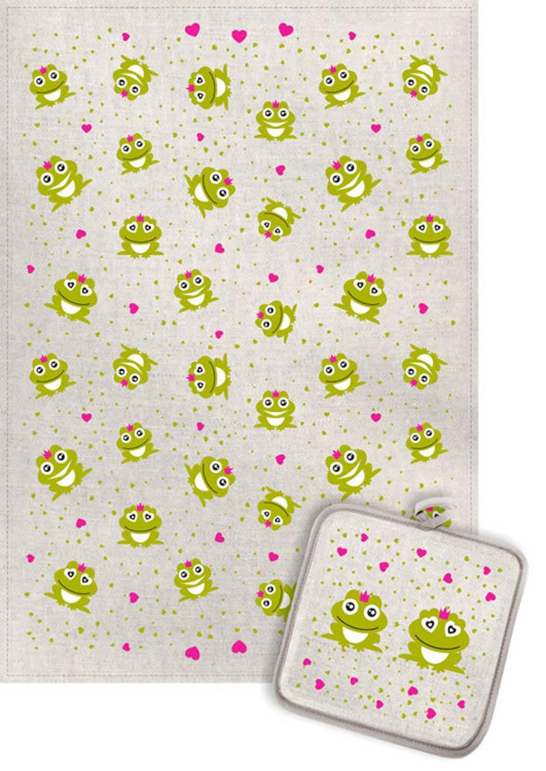 Кухонный набор Гранд-Стиль Гранд-Стиль Кухонное полотенце Лягушки и сердечки gst190823