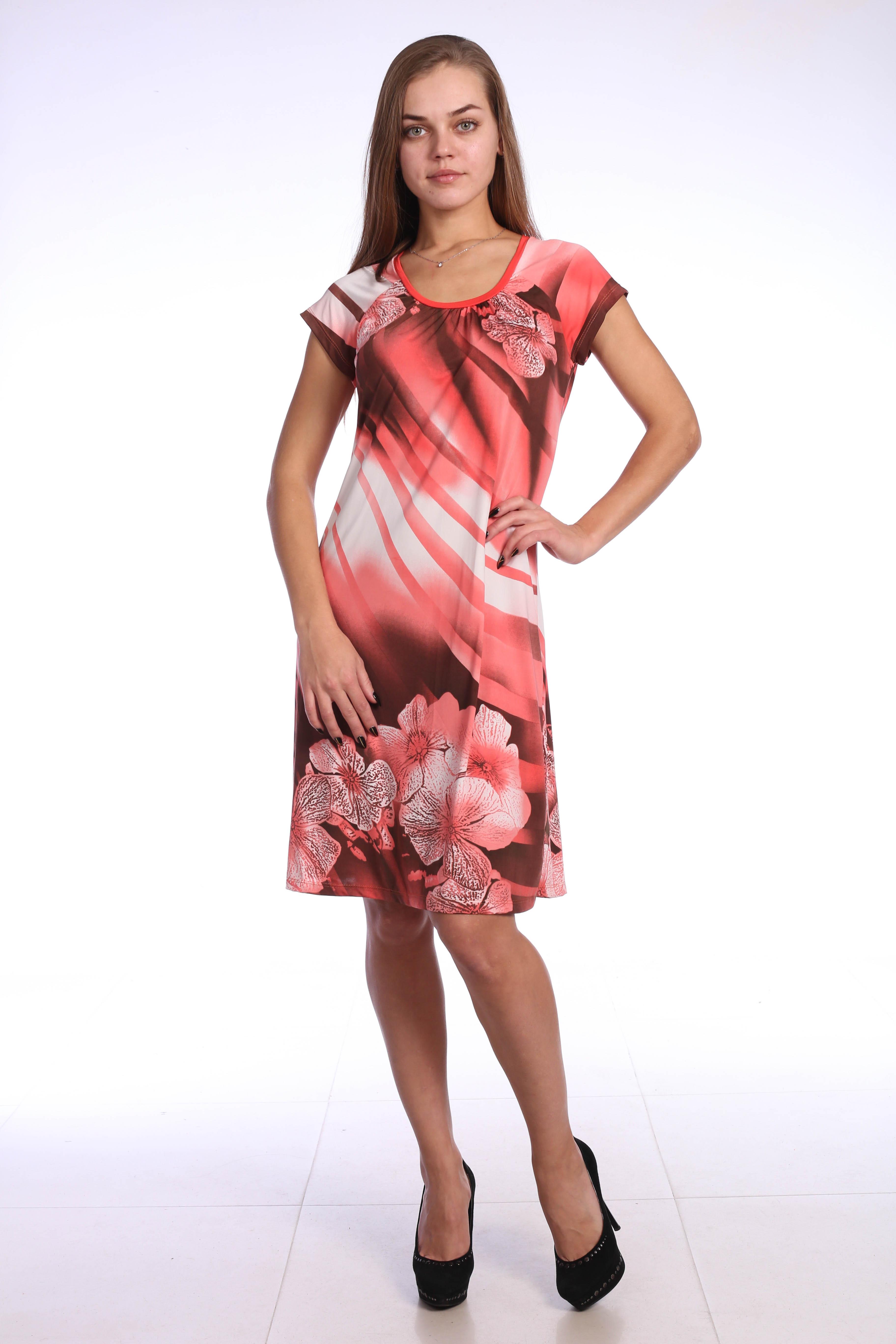 Костюмы для дома и отдыха Pastilla Платье Фиалка Цвет: Коралловые Цветы (M)