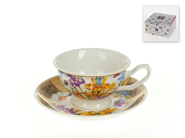 {} Nouvelle Чайная пара Ирис (180 мл) подарочная корзина чайная с заварочной кружкой