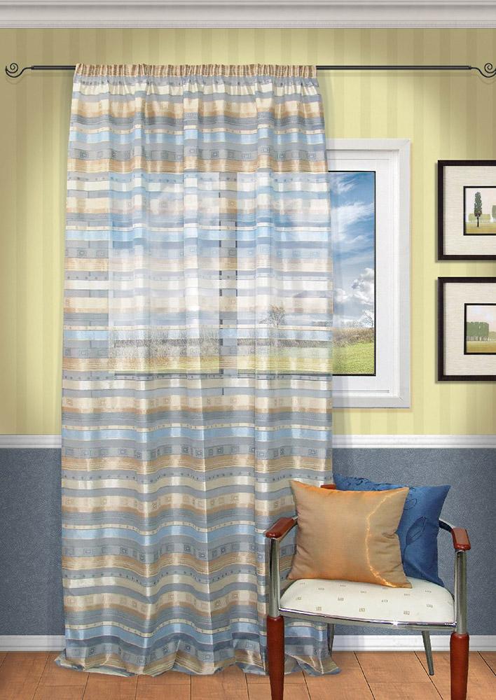 Шторы Kauffort Классические шторы Macadi - S Цвет: Голубой шторы kauffort классические шторы barolo s