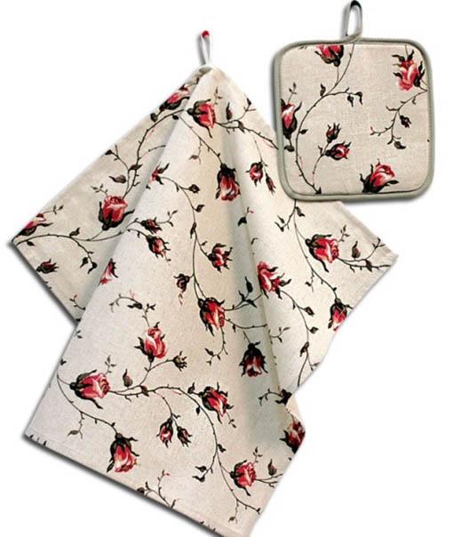 Кухонный набор Гранд-Стиль Гранд-Стиль Кухонный набор из 2 полотенец Маленькая розочка gst190855