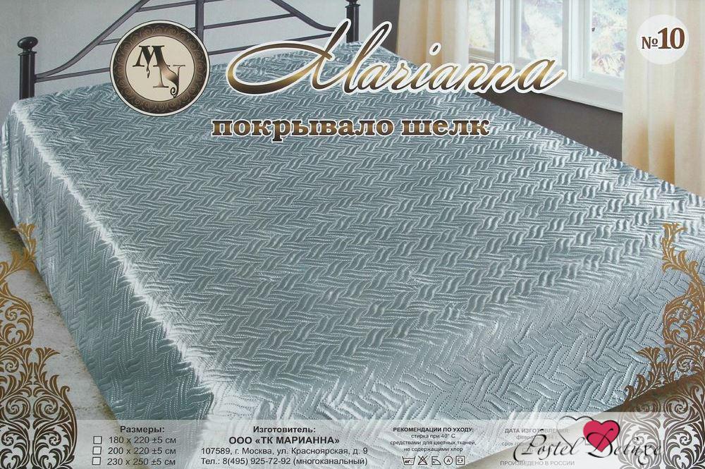 Покрывало MariannaПокрывала<br>Производитель: Marianna<br>Страна производства: Россия<br>Материал: Искусственный Шелк, 107 гр/м2<br>Состав материала: 100% Полиэстер<br>Размер: 200х220 см.<br>Упаковка: Чемодан ПВХ<br>Особенности: Покрывало изготовлено способом ультрастеп (термостёжка), в середине синтепон 80 гр/м2. Края обработаны шелковой бейкой.<br><br>Тип: покрывало<br>Размерность комплекта: Двуспальные<br>Материал: Искусственный шелк<br>Размер наволочки: None<br>Подарочная упаковка: None<br>Для детей: нет<br>Ткань: Искусственный шелк<br>Цвет: Серый