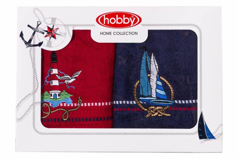 Полотенце Hobby CollectionПолотенца<br>Производитель: Hobby Collection<br>Материал: Махра<br>Состав: 100% Хлопок <br>Размер: 50x90 см - 2 шт<br>Плотность: 450г/м2<br>Полотенца украшены изящной вышивкой и упакованы в подарочную коробку.<br><br>Тип: полотенце<br>Размерность комплекта: None<br>Материал: Махра<br>Размер наволочки: None<br>Подарочная упаковка: есть<br>Для детей: нет<br>Ткань: Махра<br>Цвет: Синий,Красный