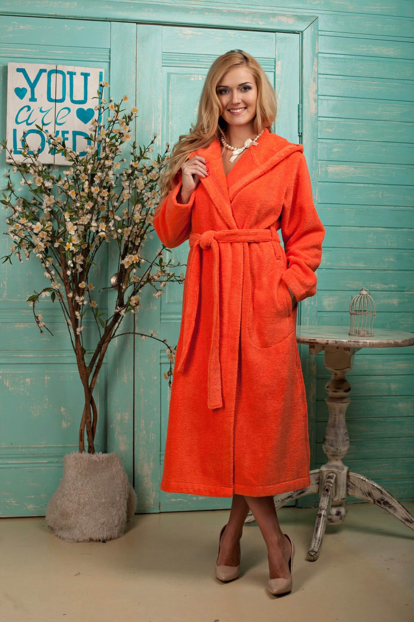 Сауны, бани и оборудование Five Wien Халат Mary Цвет: Красный (L-хL)  халат домашний five wien home mary peach echo