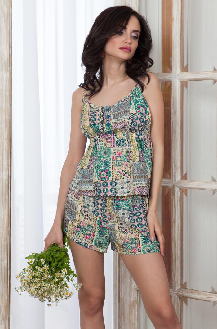 Пижамы Mia-Mia Пижама Daniella Цвет: Зеленый (L) пижама mia mia crystal бирюзовый l