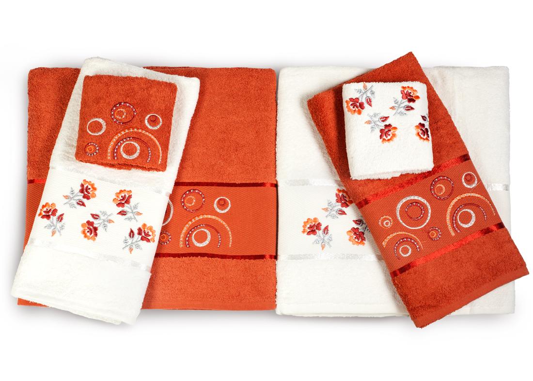 Полотенце Oran MerzukaПолотенца<br>Производитель: Oran Merzuka<br>Страна производства: Турция<br>Материал: Махра (хлопок)<br>Размер: 50x90 - 2 шт, 70x140- 2 шт, 30x50 - 2 шт<br>Вышивка на полотенцах может отличаться от представленной на фотографии.<br><br>Тип: полотенце<br>Размерность комплекта: None<br>Материал: Махра<br>Размер наволочки: None<br>Подарочная упаковка: есть<br>Для детей: нет<br>Ткань: Махра<br>Цвет: Коричневый