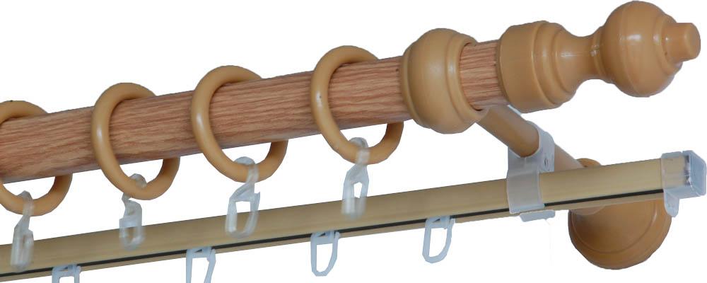 Карнизы и аксессуары для штор Деревей Карниз Helga Цвет: Дуб (200 см) в г тула пластиковые трубы оптом цена труба 110 мм