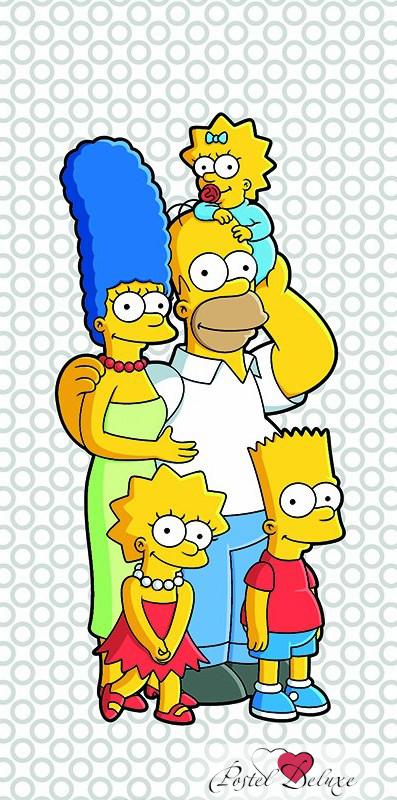 Полотенца Mona Liza Детское полотенце Семейка Simpsons (70х140 см)