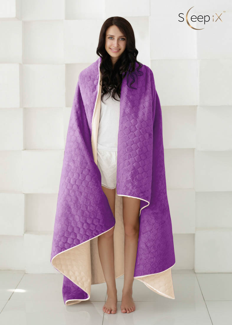 {} Sleep iX Набор Multi Set (с подушками) Цвет: Бежевый/Фиолетовый (200х220 см)