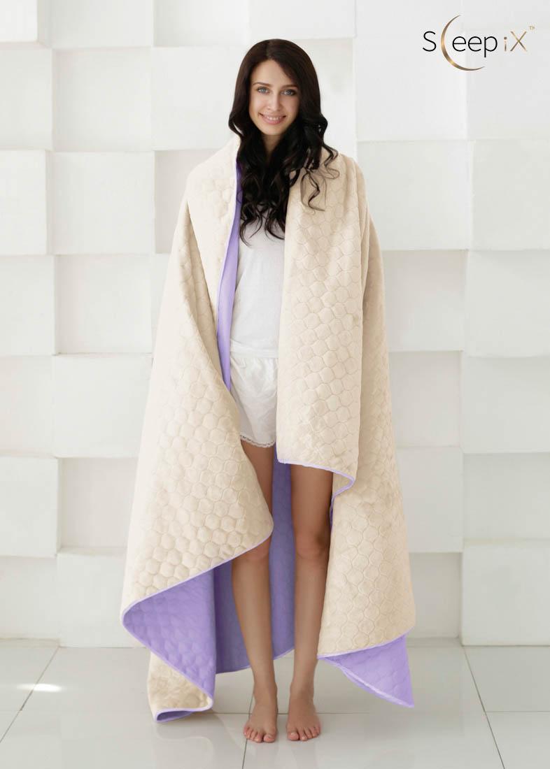 {} Sleep iX Набор Multi Set (с подушками) Цвет: Фиолетовый/Молочно-Серый (220х240 см)