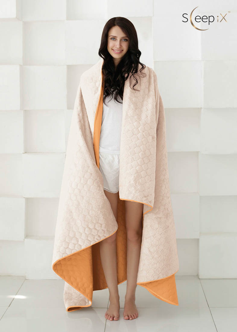 {} Sleep iX Набор Multi Set (с подушками) Цвет: Оранжевый/Молочно-Розовый (180х220 см)