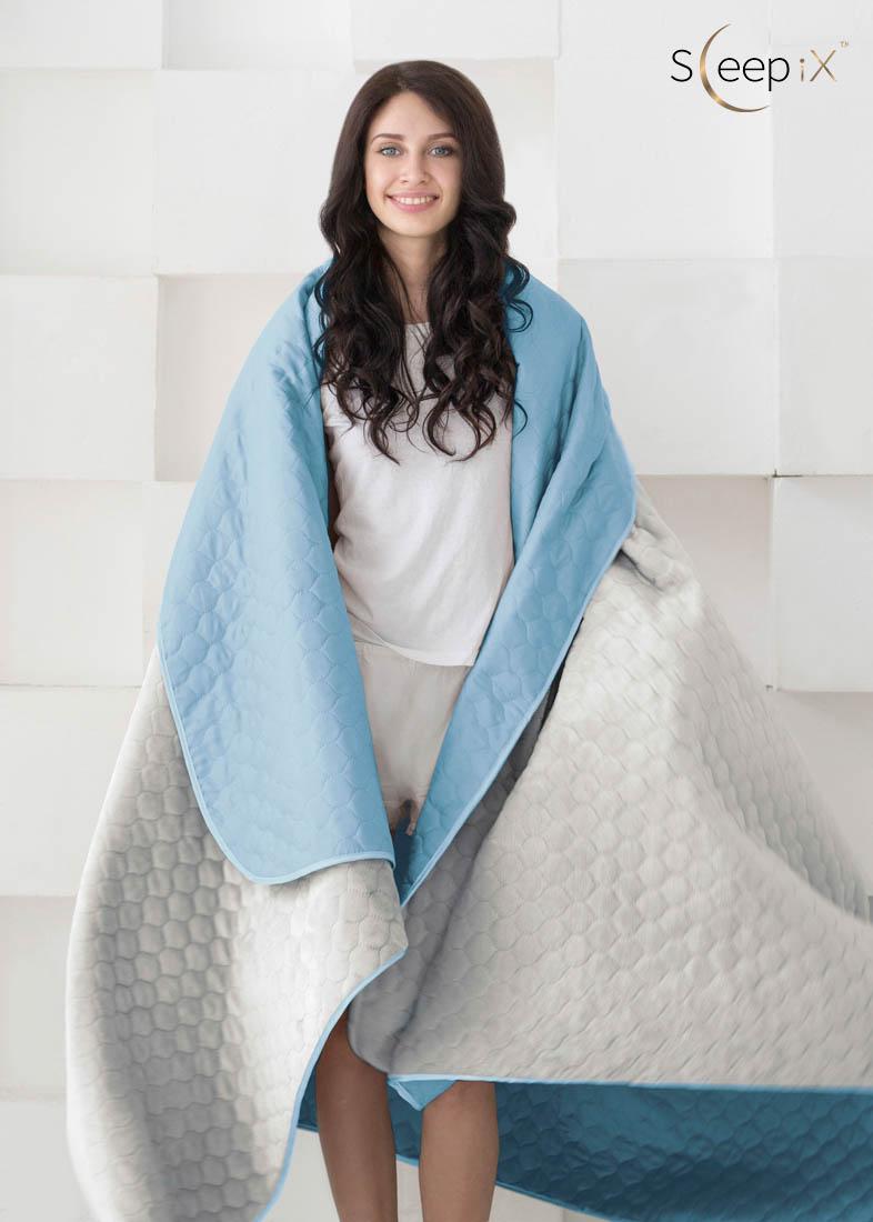 {} Sleep iX Набор Multi Set (с подушками) Цвет: Голубой/Серый (200х220 см)