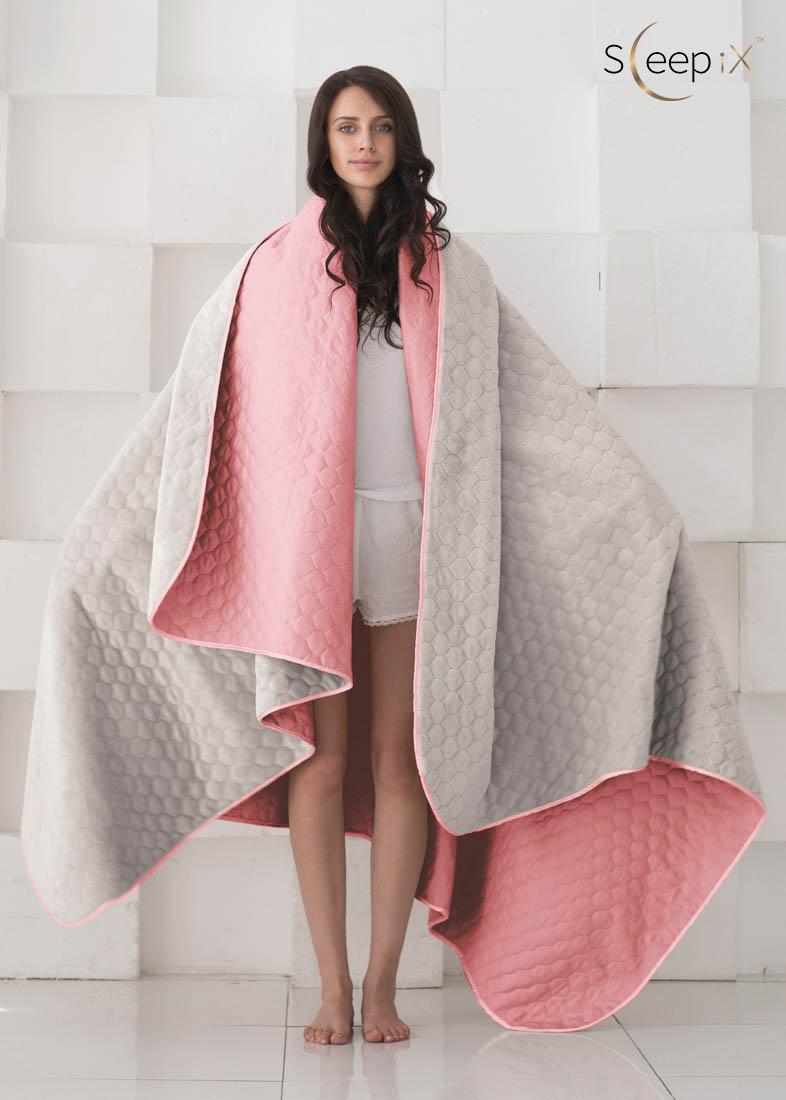 {} Sleep iX Набор Multi Set (с подушками) Цвет: Розовый/Серый (200х220 см)