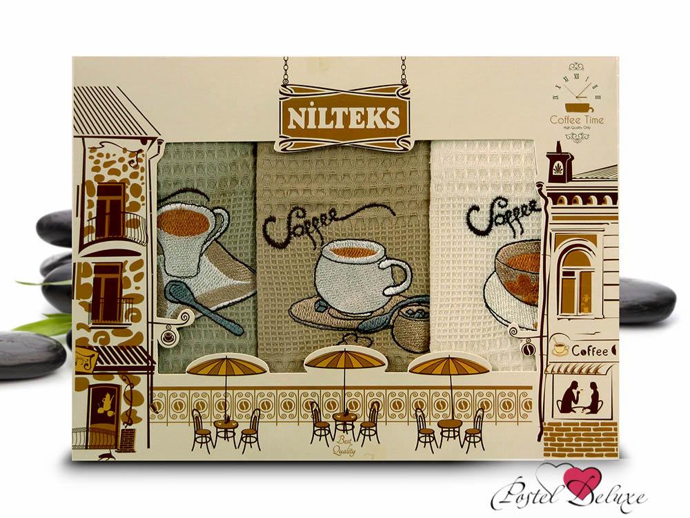 Кухонный набор NilteksКухонные наборы<br>Производитель: Nilteks<br>Страна производства: Турция<br>Материал: Вафля (100% Хлопок)<br>Размер: 50х70 см (3 шт)<br><br>Тип: кухонный набор<br>Размерность комплекта: None<br>Материал: Вафля<br>Размер наволочки: None<br>Подарочная упаковка: None<br>Для детей: нет<br>Ткань: Вафля<br>Цвет: None