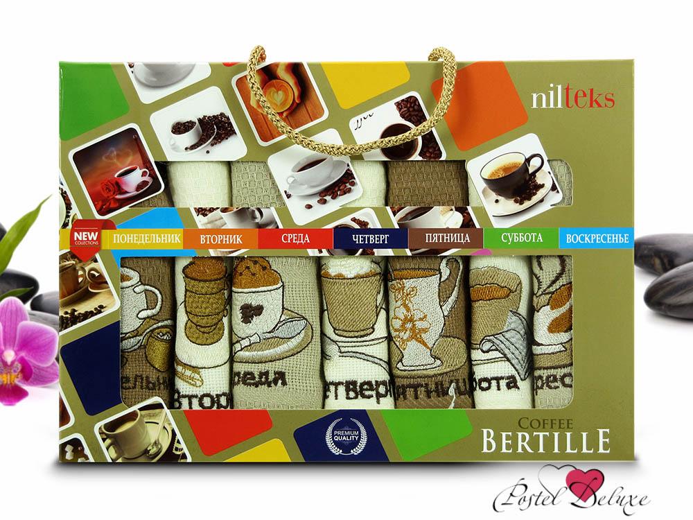 Кухонный набор NilteksКухонные наборы<br>Производитель: Nilteks<br>Страна производства: Турция<br>Материал: Вафля (100% Хлопок)<br>Размер: 40х60 см (7 шт)<br><br>Тип: кухонный набор<br>Размерность комплекта: None<br>Материал: Вафля<br>Размер наволочки: None<br>Подарочная упаковка: None<br>Для детей: нет<br>Ткань: Вафля<br>Цвет: Белый,Коричневый,Кремовый