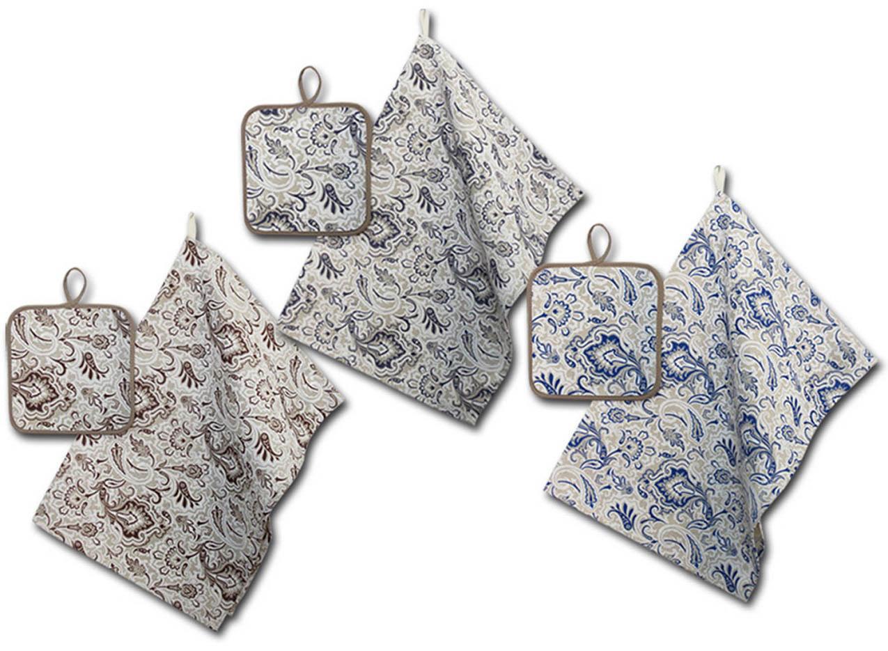 Кухонный набор Гранд-Стиль Гранд-Стиль Кухонное полотенце Огурец Цвет: Синий gst190803