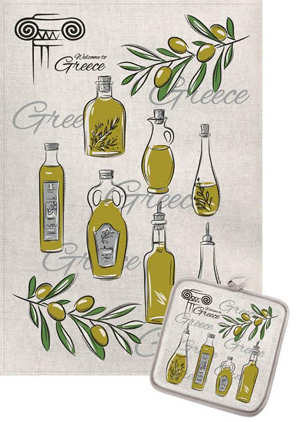 Кухонный набор Гранд-Стиль Гранд-Стиль Кухонный набор из 2 полотенец Оливковое масло gst190880