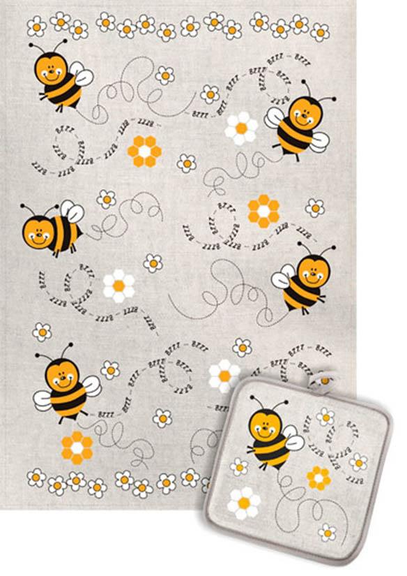 Кухонный набор Гранд-Стиль Гранд-Стиль Кухонный набор из 2 полотенец Пчелки gst190891