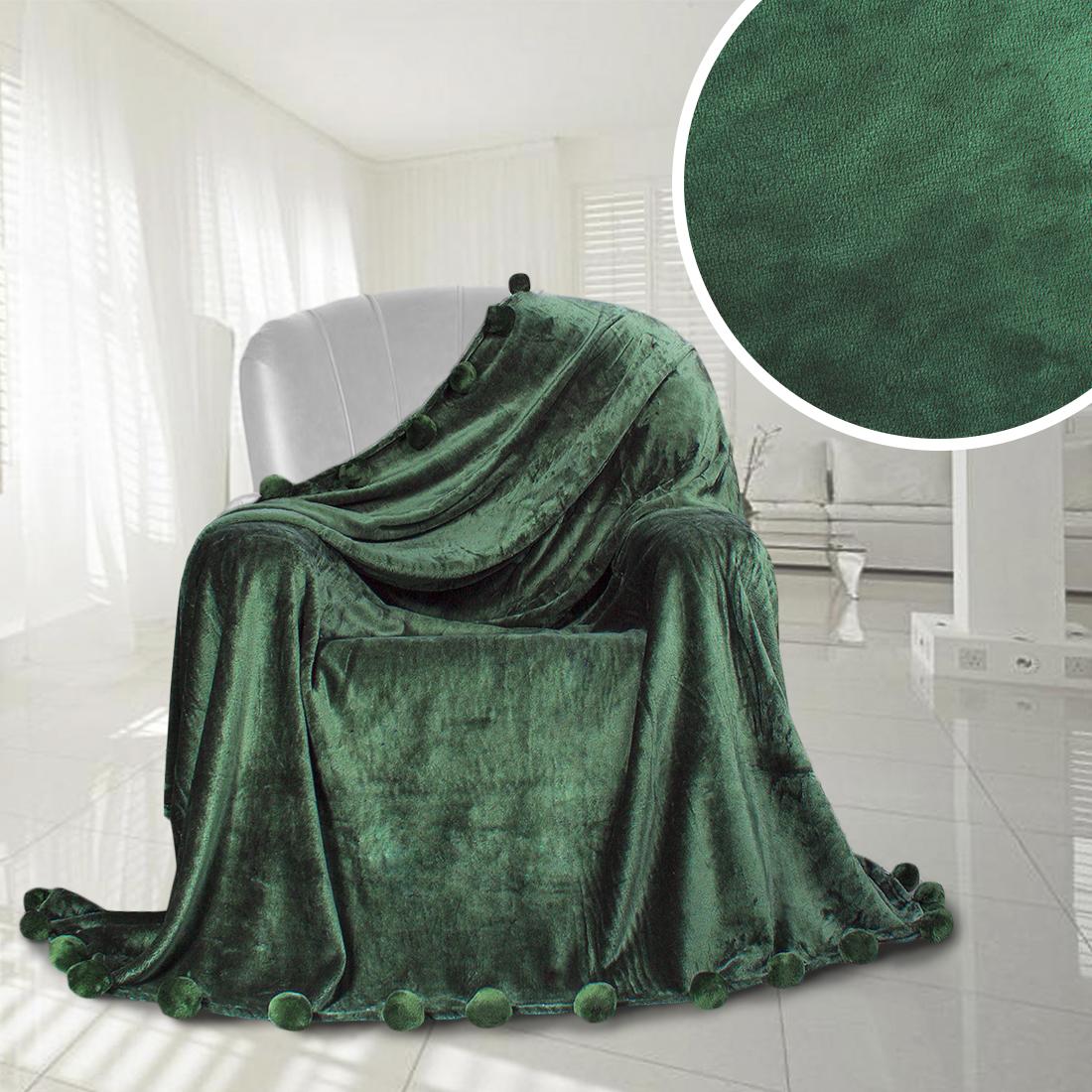 Плед Eleganta Плед Помпон Цвет: Травяной (210х220 см) плед eleganta плед помпон цвет фиолетовый 210х220 см