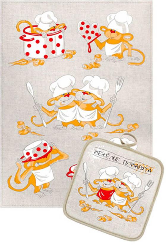 Кухонный набор Гранд-Стиль Гранд-Стиль Кухонный набор из 2 полотенец Поварята gst190900