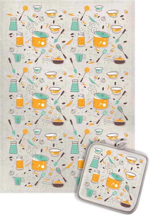 Кухонный набор Гранд-Стиль Гранд-Стиль Кухонный набор из 2 полотенец Кухонные приборы gst190877