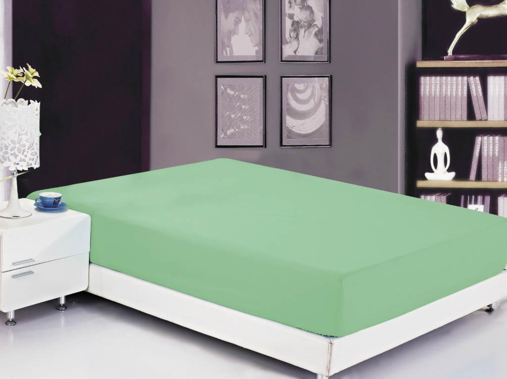 где купить  Простыни Valtery Простыня на резинке Roxy Цвет: Зеленый (180х200)  по лучшей цене