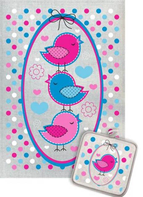 Кухонный набор Гранд-Стиль Гранд-Стиль Кухонный набор из 2 полотенец Птички рамка gst190890