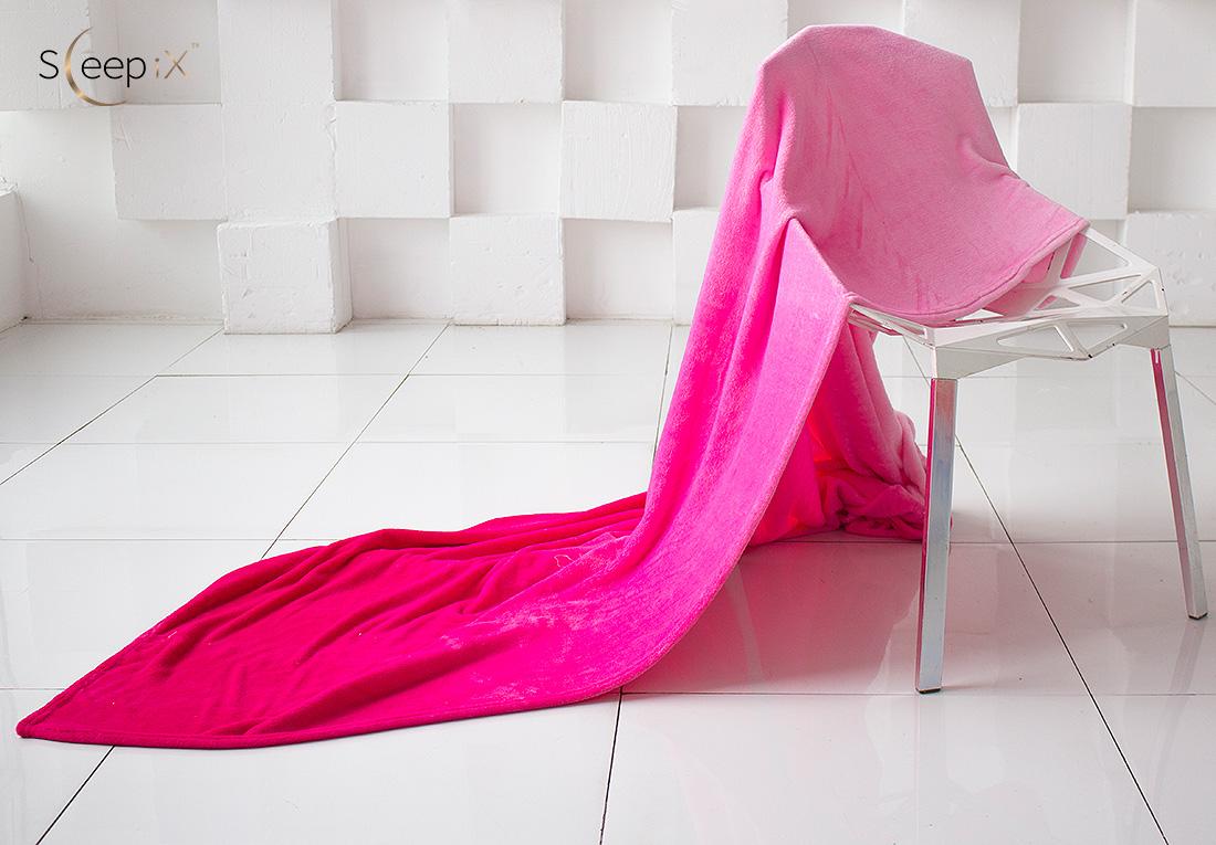 где купить Плед Sleep iX Плед Plushy Ombre Цвет: Розовый (200х220 см) по лучшей цене