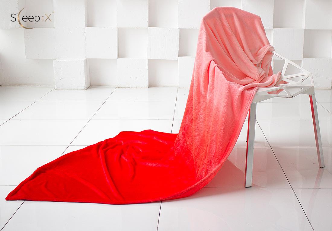 где купить Плед Sleep iX Плед Plushy Ombre Цвет: Красный (150х200 см) по лучшей цене