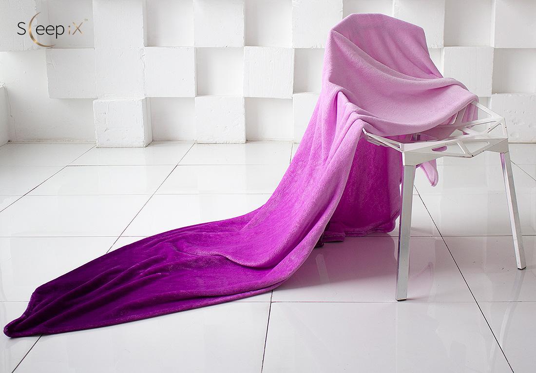 где купить Плед Sleep iX Плед Plushy Ombre Цвет: Сиреневый (150х200 см) по лучшей цене