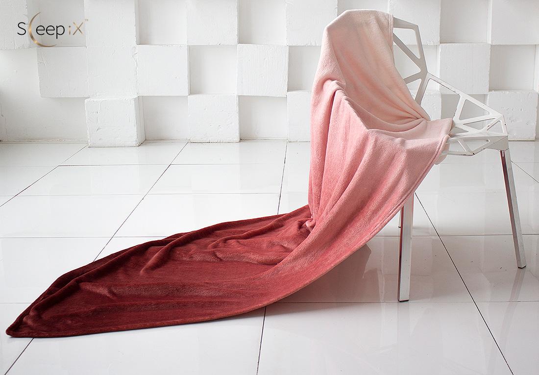 где купить Плед Sleep iX Плед Plushy Ombre Цвет: Шоколадный (200х220 см) по лучшей цене
