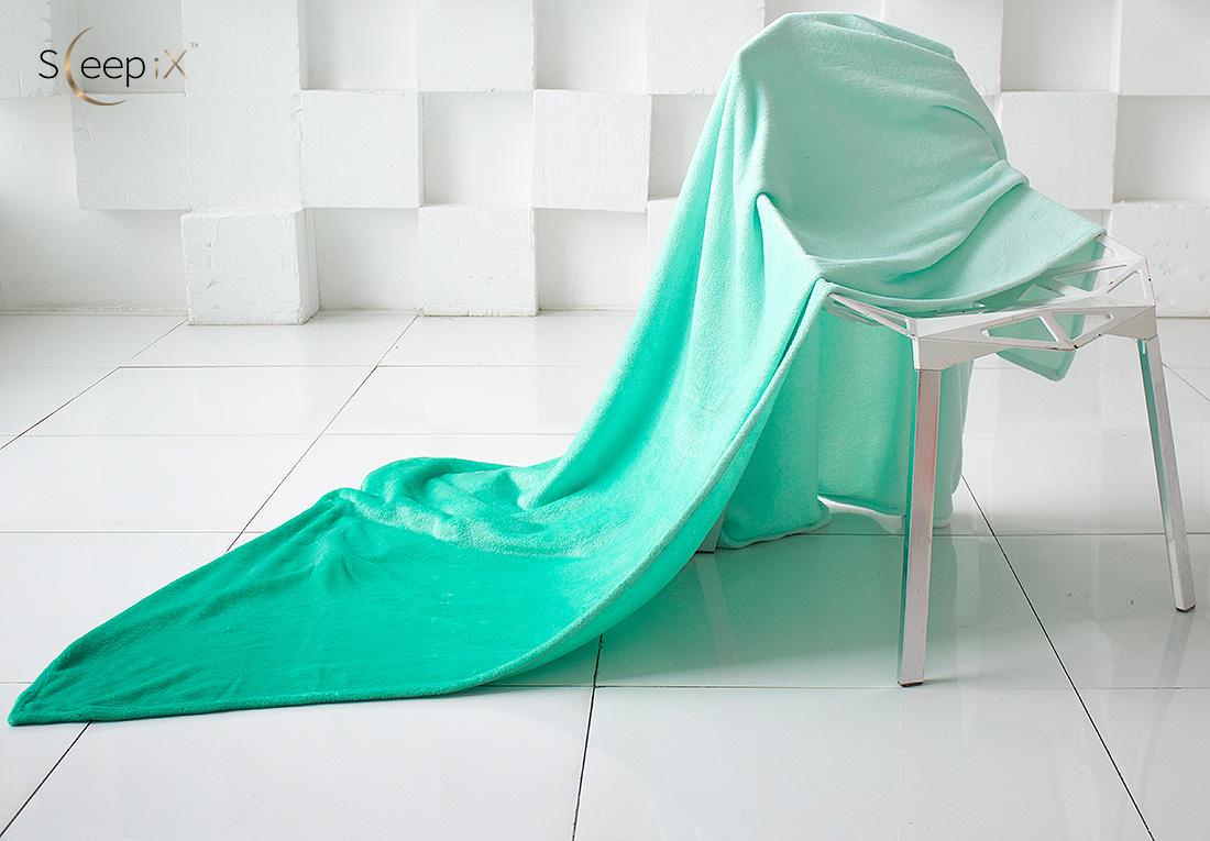 где купить Плед Sleep iX Плед Plushy Ombre Цвет: Морская волна (150х200 см) по лучшей цене