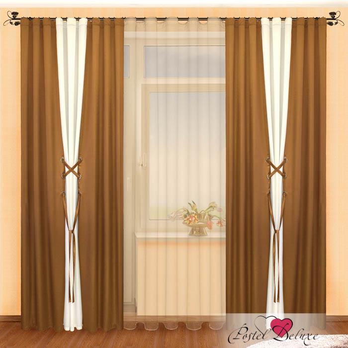 Шторы РеалТекс Классические шторы Amey Цвет: Шоколад-Шампань